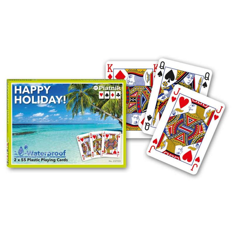 Piatnik karte Happy Holiday plastične