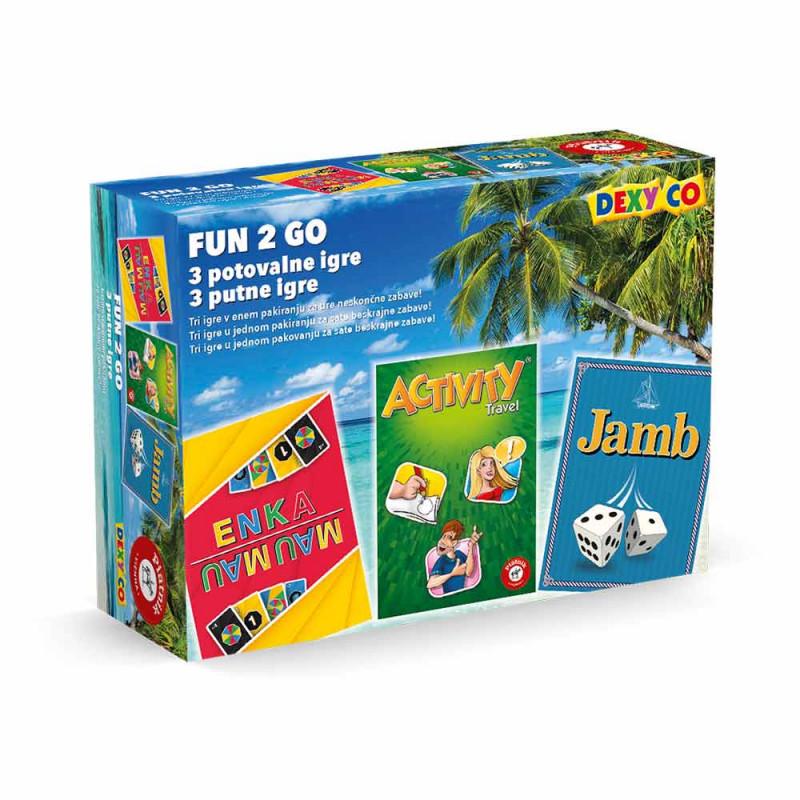 Piatnik Fun 2 GO set od 3 putene igre