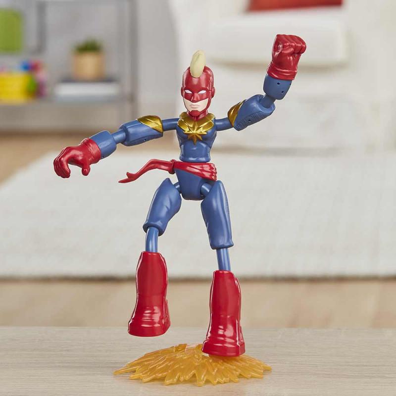 Avengers Bend&Flex Kapetan Marvel 15cm