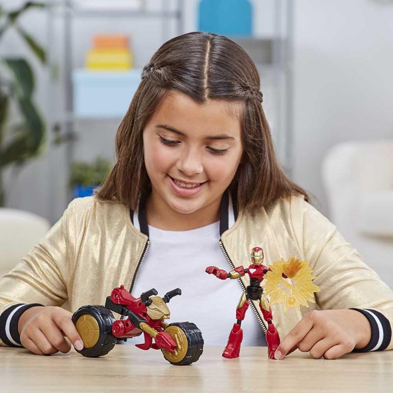 Avengers Bend & Flex Iron man s vozilom