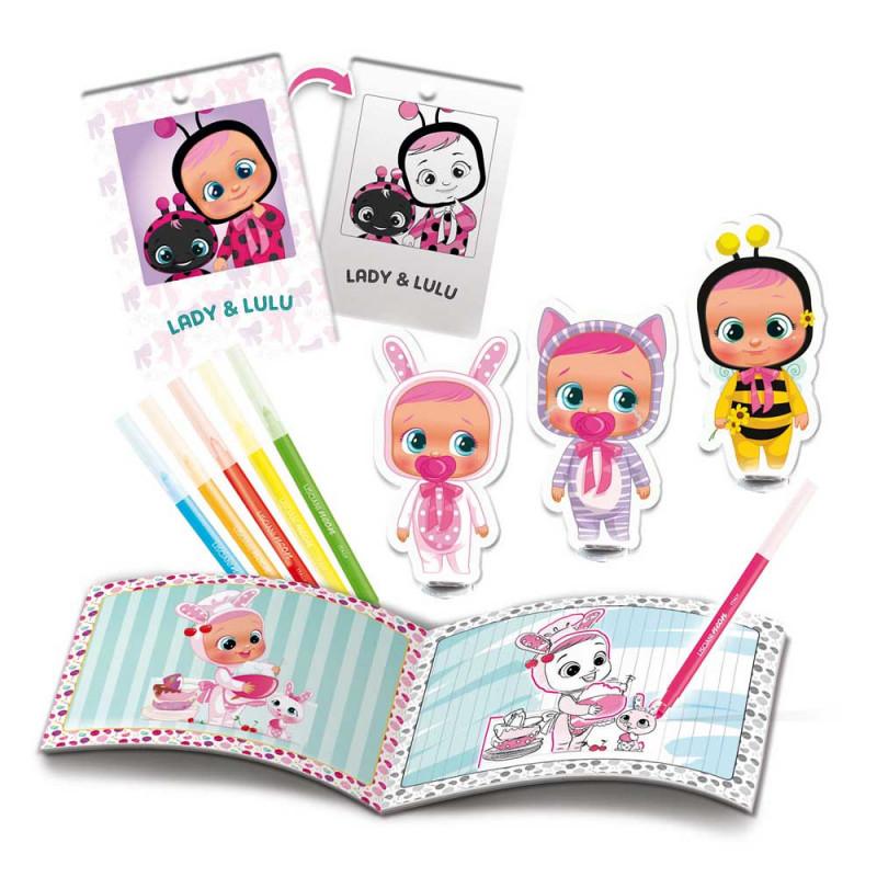 Cry Babies set bojanje fluo markerima
