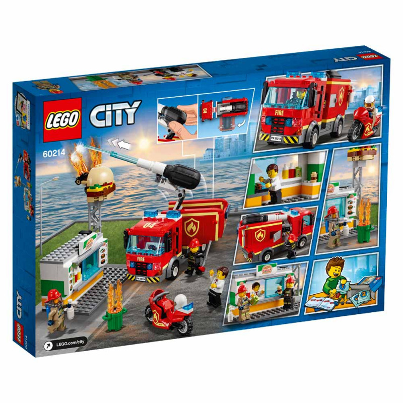 LEGO City Požar v kiosku s hamburgerji